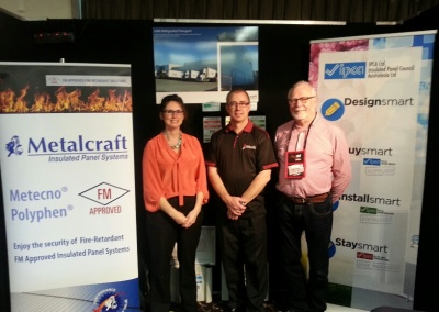 Graeme with Frances Charles from our Gold Partners, Metalcraft Industries and Ron Lawson, CEO of IPCA