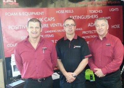 Graeme Quensell with representatives from our Platinum Partners, PSL, Mark van Dorsten and Alistair Ramsay